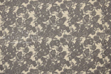 Japanese Fabric 100% Linen Native Flowers - grey -  50cm