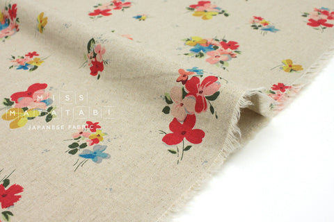 Japanese Fabric Posy - blue, red, yellow - 50cm