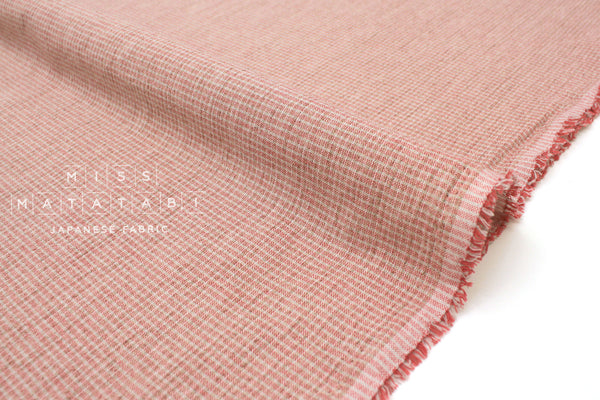 Japanese Fabric Yarn Dyed Mini Check - pink - 50cm