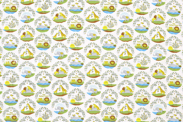 Japanese Fabric Safari Land - cream - 50cm