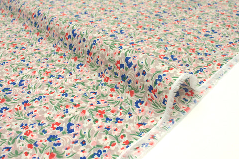Japanese Fabric Dainty Floral cotton lawn - milk tea - 50cm