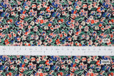 Japanese Fabric Dainty Floral cotton lawn - black - 50cm