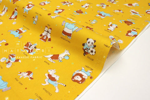 Japanese Fabric Kokka Sports - mustard - fat quarter