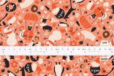 Japanese Fabric Cotton + Steel Waku Waku Christmas - mixer - coral - fat quarter