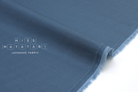 Japanese Fabric Solid Cupro Twill - blue - 50cm