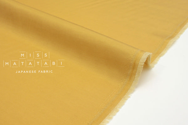 Japanese Fabric Solid Cupro Twill - golden mustard - 50cm