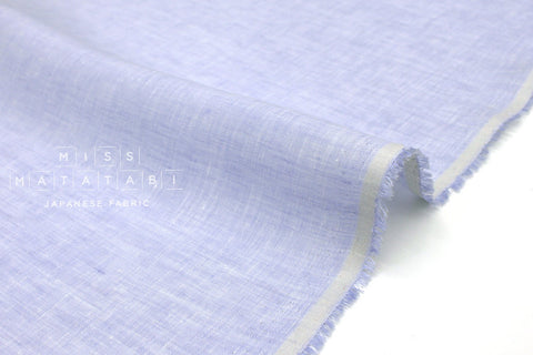 Japanese Fabric 100% Chambray Linen - light blue -  50cm