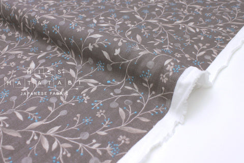 Japanese Fabric Little Spring Double Gauze - taupe grey - 50cm
