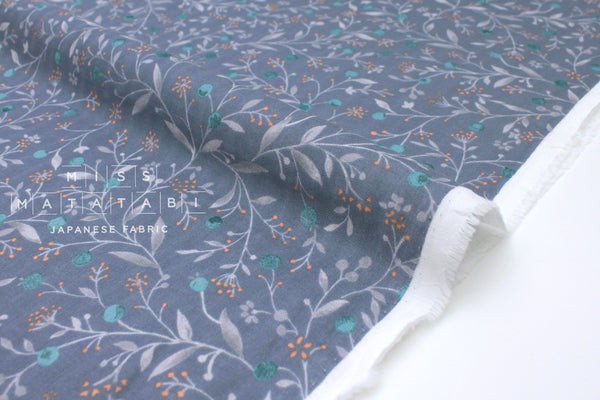 Japanese Fabric Little Spring Double Gauze - blue - 50cm