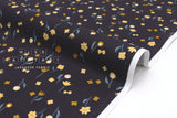 Japanese Fabric Cotton + Steel Neko and Tori - Flower Picking - navy - fat quarter