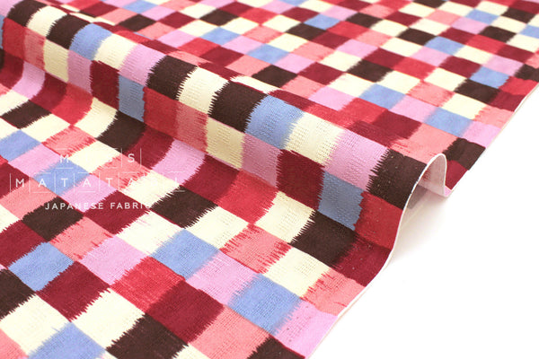 Japanese Fabric Dobby Wa Check - D - 50cm