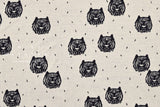 Japanese Fabric Tiger reversible double knit - charcoal navy, cream - 50cm
