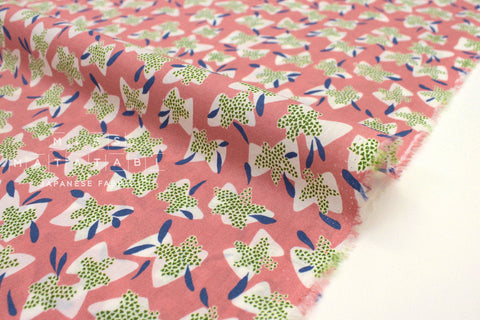Japanese Fabric Kokka Cocca Elderflower - coral pink - 50cm