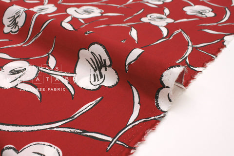 Japanese Fabric Kokka Cocca - Her Dress - red - 50cm