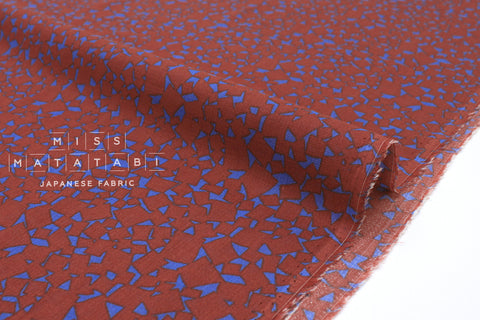 Japanese Fabric Dobby Chiffon - dark terracotta - 50cm
