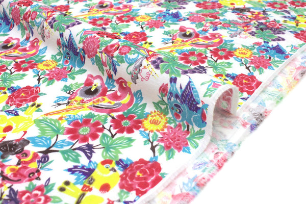 Japanese Fabric Island Life Double Gauze - multi - 50cm