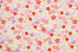 Japanese fabric Floating Sakura - cream, pink - 50cm