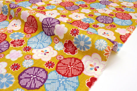 Japanese Fabric Retro Japanese dobby - mustard - 50cm