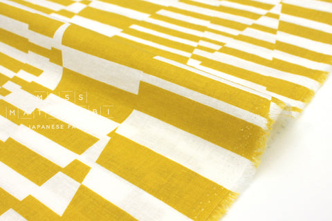 Japanese Fabric Kokka Cocca Shimauma - yellow - 50cm