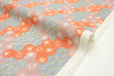 Japanese Fabric Kokka Tayutou Dewdrop - orange - 50cm