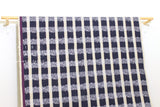 Japanese Fabric Kokka Echino Field - navy blue, metallic silver - 50cm