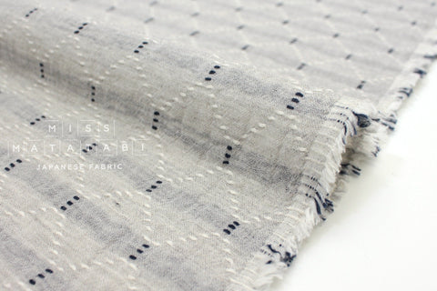 Japanese Fabric Kokka Sashiko Yarn Dyed Double Gauze - B - 50cm