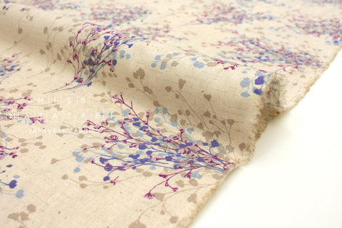 Japanese Fabric Floral Sprigs - natural - 50cm