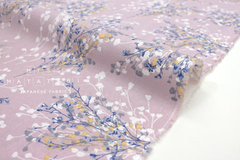Japanese Fabric Floral Sprigs - lilac - 50cm