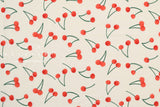 Japanese Fabric Cherries cotton lawn - cream - 50cm