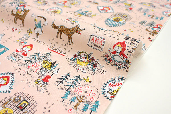 Japanese Fabric Kokka Little Red Riding Hood - pink - 50cm