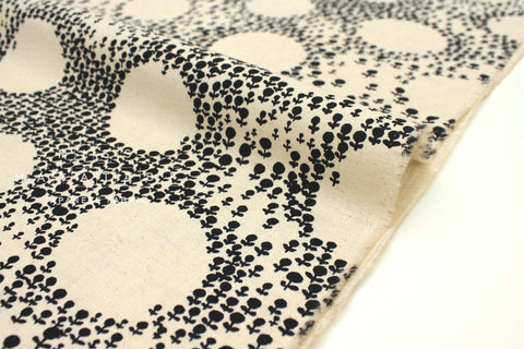 Japanese Fabric Moon Forest Canvas - black - 50cm