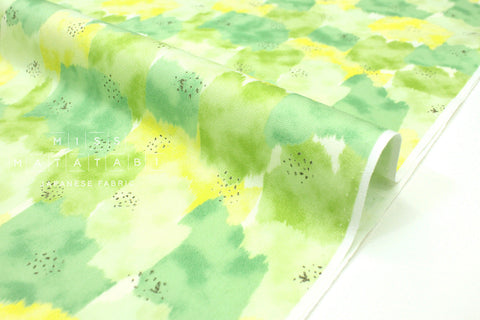 Japanese Fabric Abstract Floral - green - 50cm