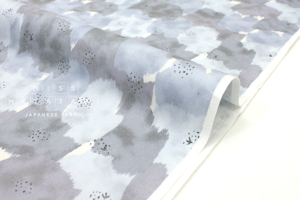 Japanese Fabric Abstract Floral - grey - 50cm