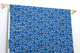 Japanese Fabric Cotton + Steel Waku Waku Christmas - penguin dance - blue - fat quarter