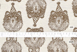 Japanese Fabric Party Bear reversible double knit - warm brown, cream - 50cm