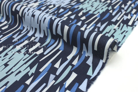 Japanese Fabric Kokka Cocca Breeze - blue - 50cm