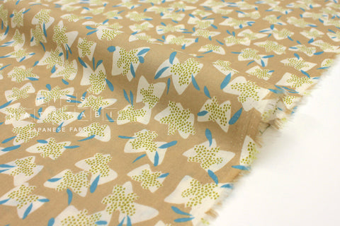 Japanese Fabric Kokka Cocca Elderflower - sand - 50cm