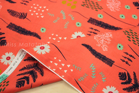 Cotton + Steel Mesa - fern book coral - 50cm