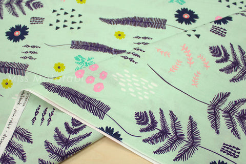 Cotton + Steel Mesa - fern book mint - 50cm