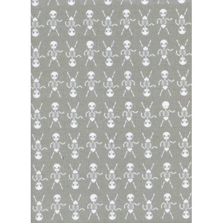 Cotton + Steel Boo! - skeleton dance grey - 50cm