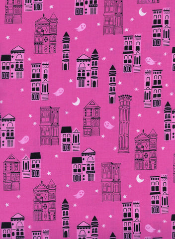 Cotton + Steel Eclipse - haunrted city pink - 50cm