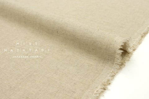 Japanese Fabric Kobayashi Solid  Linen Cotton Double Gauze - natural linen - 50cm