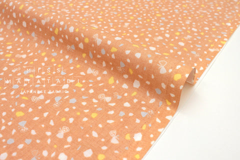 Japanese Fabric Nina Gems - peachy orange - 50cm