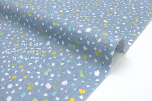 Japanese Fabric Nina Gems - light blue - 50cm