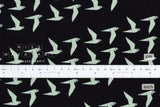 Japanese Fabric Cotton + Steel By The Seaside - Fly Along black - 50cm