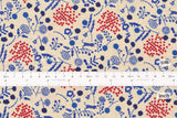 Japanese Fabric Kokka Echino Sprout - blue, red - 50cm