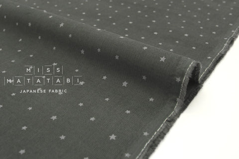 Japanese Fabric Kokka Corduroy Little Stars - grey - 50cm