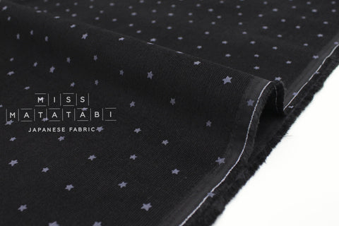 Japanese Fabric Kokka Corduroy Little Stars - black - 50cm