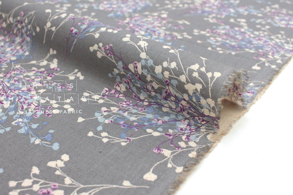 Japanese Fabric Floral Sprigs - grey - 50cm