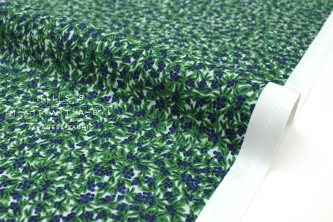 Cotton + Steel Meadow - blueberries green - 50cm